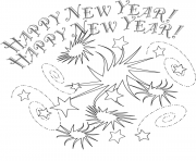 Print New Years Eve coloring pages