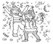for kids new year partiesb0ee coloring pages