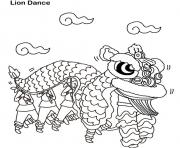 lion dance chinese new year s34e1 coloring pages