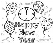 Print Happy New Year Coloring Book coloring pages