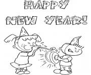 Free Happy New Year Colouring Pages For Kids coloring pages