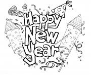 Happy New Year Printable 2 coloring pages