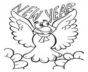 Printable New Year Flying coloring pages