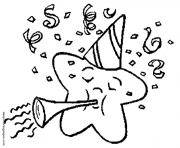 Print New Years Eve Holiday coloring pages