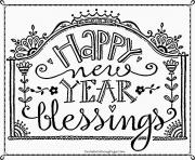 Happy New Year 2017 coloring pages
