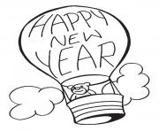 Print new year baloon coloring pages