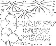 Print Happy New Year 5 coloring pages