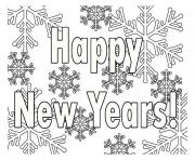 Print Printable New Years coloring pages