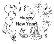 Print Happy New Year Wallpapers coloring pages