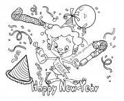 Print out happy new year 2017 2 coloring pages