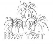 Clipart Happy New Year Coloring Page 1 coloring pages