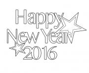 Print 2016 Happy new year Coloring Page coloring pages