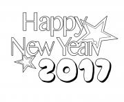 Print Happy New Year 2017 3 coloring pages