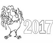 Print 2017 Happy new year coloring pages