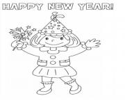 Print New Year Picture  coloring pages