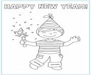 New Year Picture 1 coloring pages