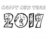 Print happy new year 2017 coloring pages 2 coloring pages