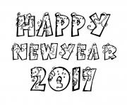 Print happy new year 2017 coloring pages coloring pages