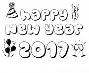 Printable New Year 2017 Coloring Pages 3
