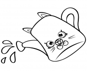 Printable Cartoon Watering Can petkins shopkins coloring pages