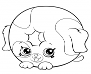 Printable Cute Donut Dog Printable petkins shopkins coloring pages