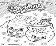 Shopkins Petkins 4 Seasons Jungle Purse and Milk Bud coloring pages