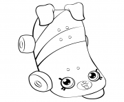 Skateboard for Girls petkins shopkins coloring pages