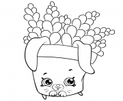 Printable Cute Fern to Color petkins shopkins coloring pages