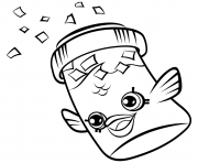 Printable Fish Flake Jake Petkins petkins shopkins coloring pages