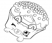 Printable Shopkins Petkins Cupcake coloring pages