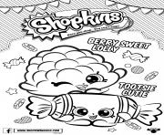Printable shopkins berry sweet lolly coloring pages