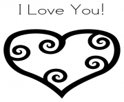heart i love you valentine f700 coloring pages