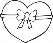 ribbon heart valentine s2f39 coloring pages