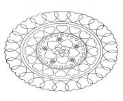 Printable free mandala to color hearts love coloring pages