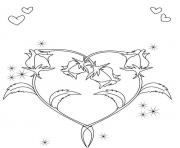 heart shape valentines s5c39 coloring pages