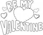 be my valentine valentines day coloring pages