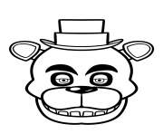 Printable fnaf freddy five nights at freddys face coloring pages