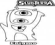 slugterra enigmo coloring pages