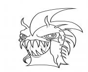 slugterra dark urchin coloring pages