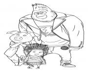 Ash, Rosita and Johnny Coloring for Cartoon Sing coloring pages