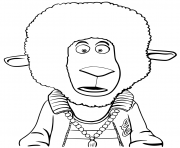 Eddie Noodleman Sheep from Sing Animation coloring pages