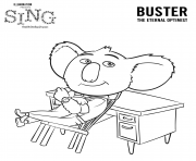 Sing Movie Coloring Pages Koala Buster coloring pages