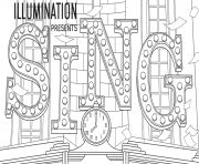 Illumination Sing coloring pages