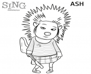 Print Porcupine from Sing 2016 coloring pages