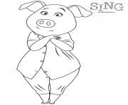 Sing Colouring Page Pig Rosita coloring pages