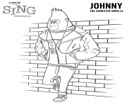 Gorilla Sing Movie Colouring Pages