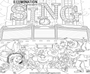 Movie Sing coloring pages