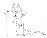 Sing Alligator coloring pages