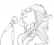 Sing Porcupine coloring pages