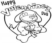 Full HD Valentine Heart Happy Valentines Day coloring pages